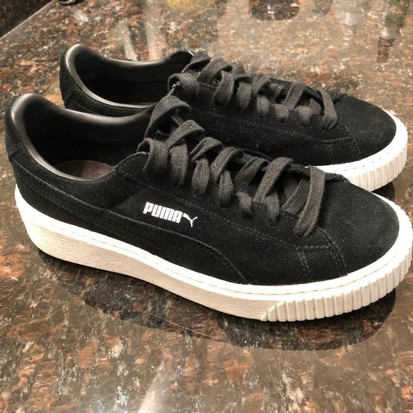 eb31ea3de9a1 M 5c3a2c51bb7615d5fcf47607. Other Shoes you may like. Platform Puma. Platform  Puma.  45  118. Fenty X Puma black sneaker boots